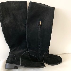 UGG Australia black suede riding boots SIZE 7